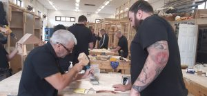 An image of veterans in training at the Building Heroes Education Foundation