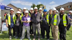 An image of our Building Heroes with the team at DIY SOS